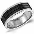 Mens Wedding Bands by Crown Ring