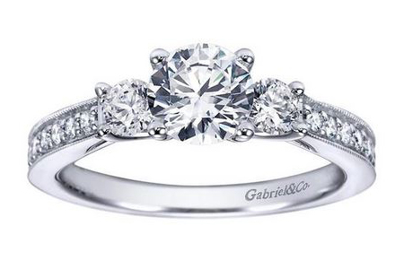 3 stone engagement rings Oconomowoc