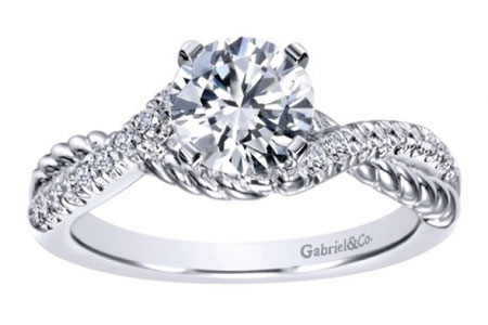 criss cross engagement rings Oconomowoc