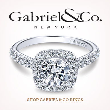 Shop Gabriel and Co engagement rings at Barnes Jewelers
